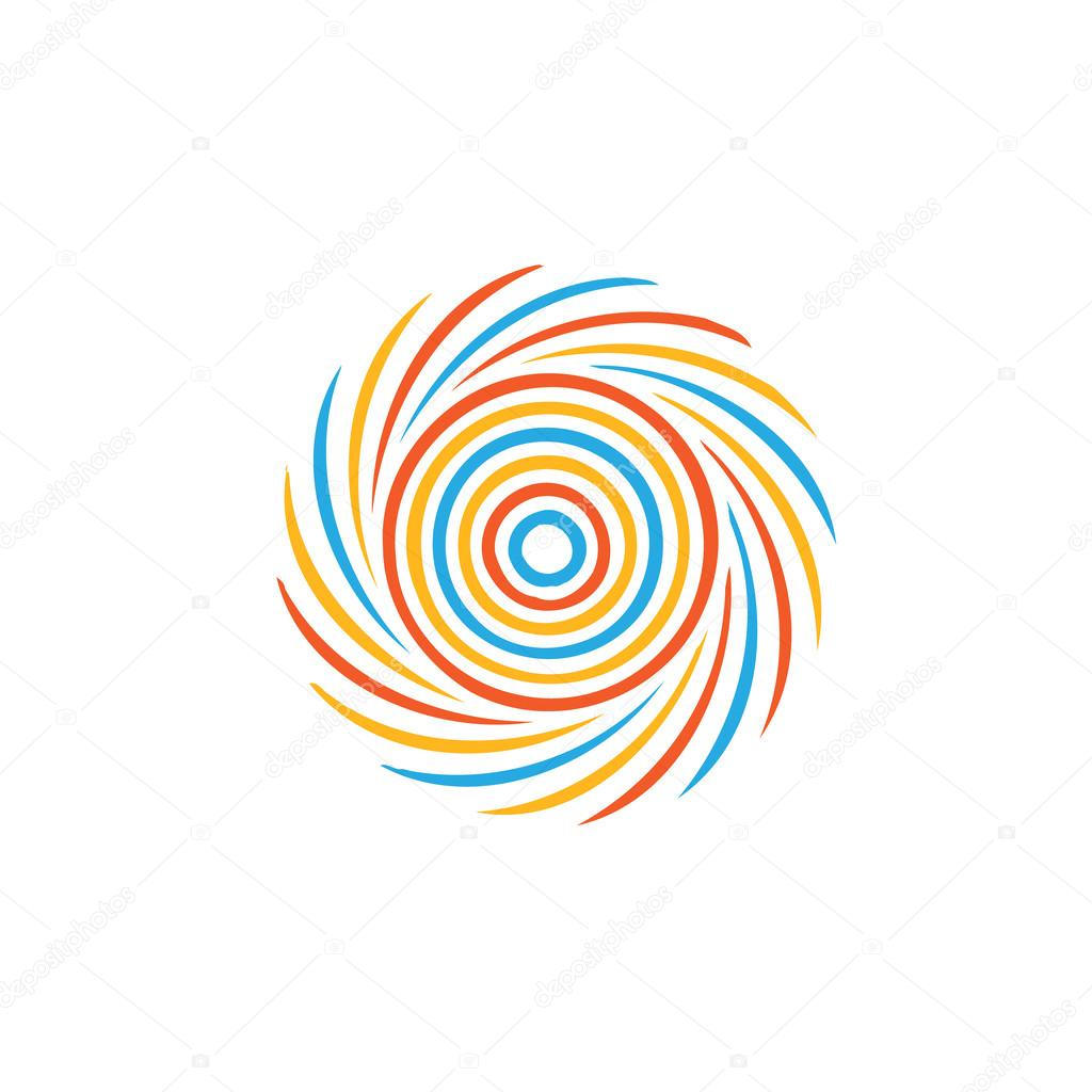Abstract colorful swirl image. Concept of hurricane, twister, tornado