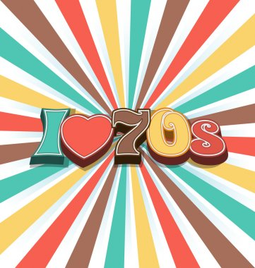 I love 70s Vector Vintage Art Background