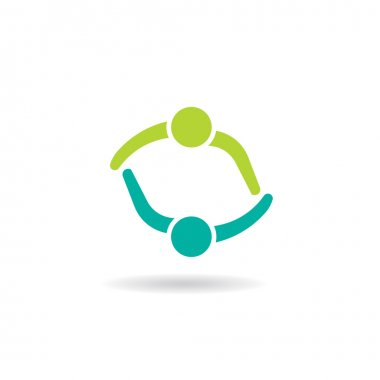 Team Meeting 2 Design logo. Group of People