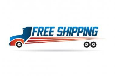 Free Shipping truck image logo