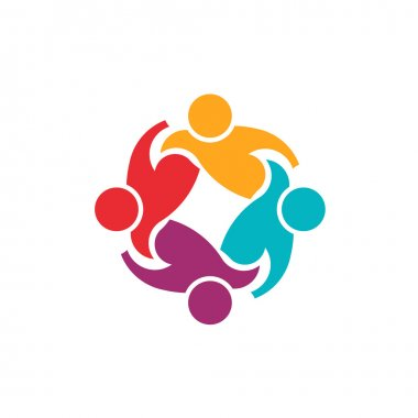 Teamwork Support 4 image . Group of People logo