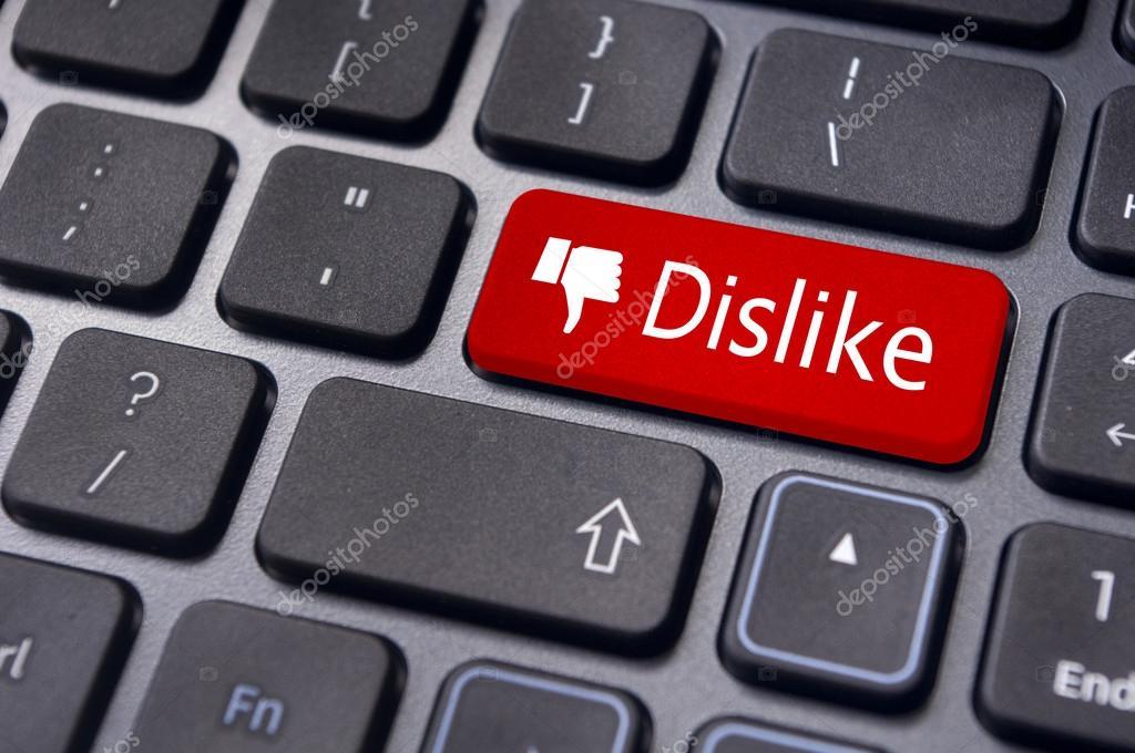 Dislike button for social media