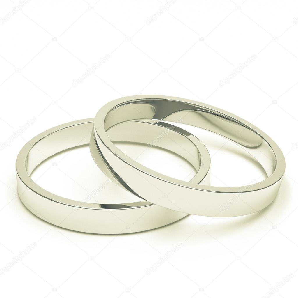 Anneaux De Mariage Argent Ou De Platine Photographie