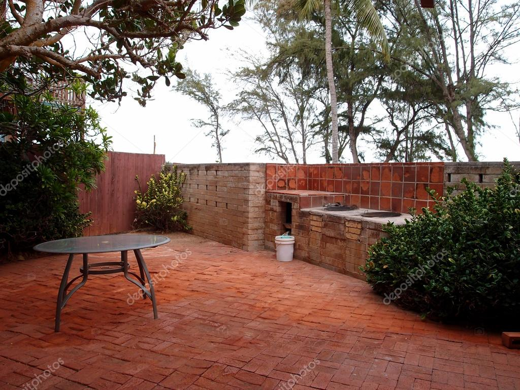 Pictures Brick Bbq Pits Red Brick Patio With Bbq Pits Stock