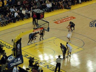 Warriors David Lee takes Free throw shoot