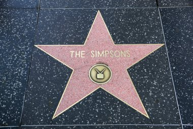 The Simpsons' star on Hollywood Walk of Fame