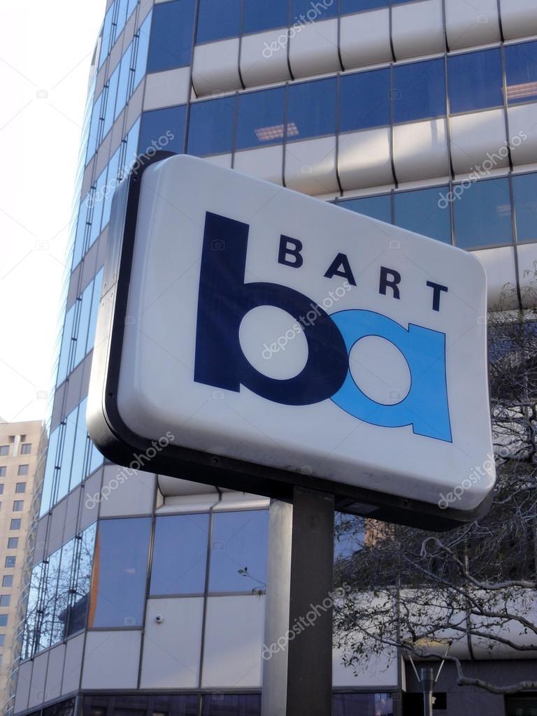BART sign marks station in Oakland, California