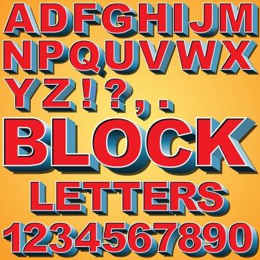 3D Block Letters