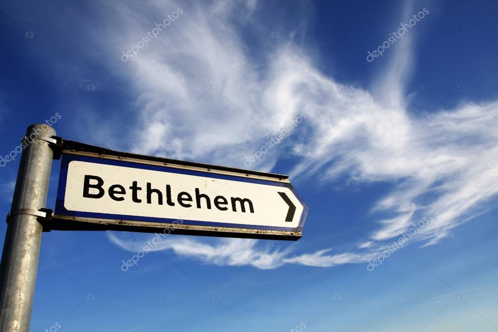 panneau de signalisation de bethl em photographie steveball 30791019. Black Bedroom Furniture Sets. Home Design Ideas