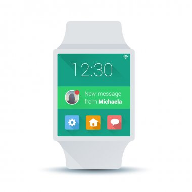Smart watch concept with simple user interface