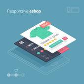 Fotografie mobilní nakupování s reagovat eshop webová aplikace