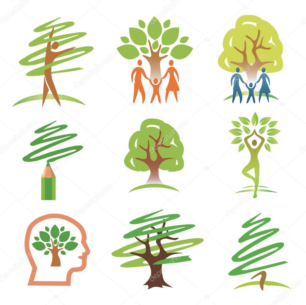 and trees icons