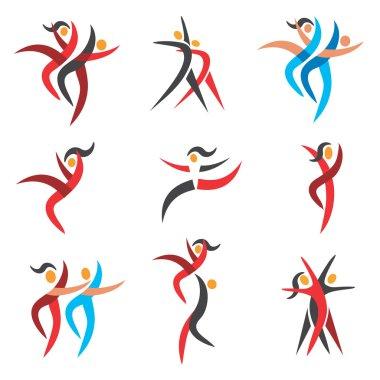 Modern dancing  icons