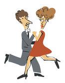 Dancer ballroom dancing