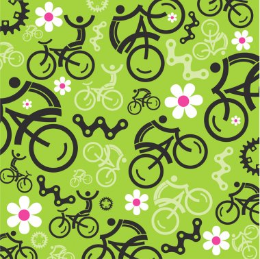 Spring cycling decorative background