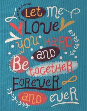 Vintage valentine's day poster clip art vector