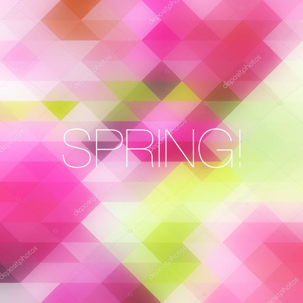 Bright mosaic spring background