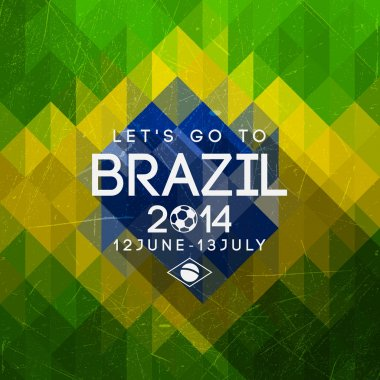 Brazil triangle background