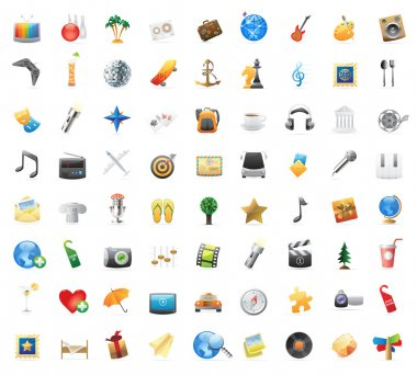 Icons for entertainment