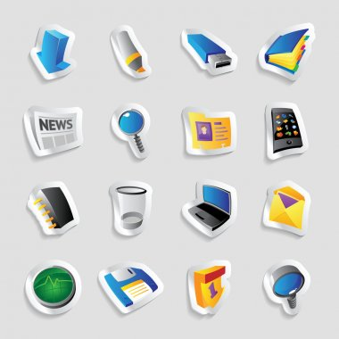 Icons for computer program and website interface. Vector illustration. stock vector