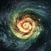 Photo Incredibly beautiful spiral galaxy somewhere in deep space
