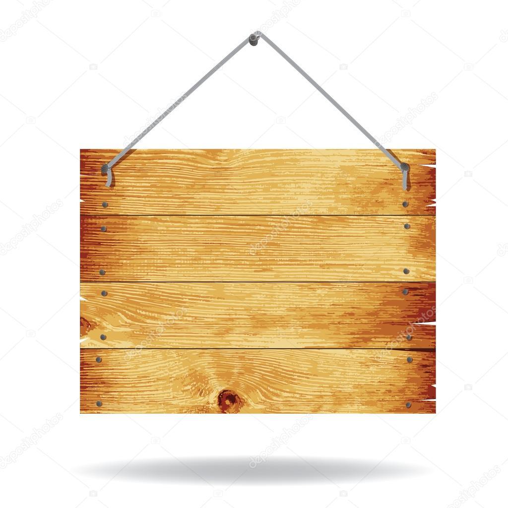 Sinal de madeira vetor de stock telesh 31818777 - Placa de madera ...