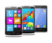 Moderní i staré mobilní telefony