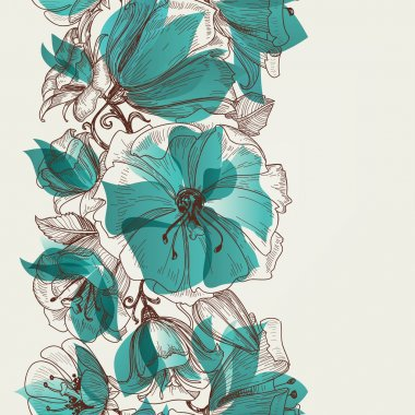 Flower seamless pattern vector stock vector