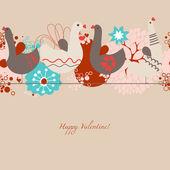 Liebe Vögel nahtlose Muster