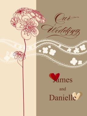 Stylish wedding invitation card, vector file