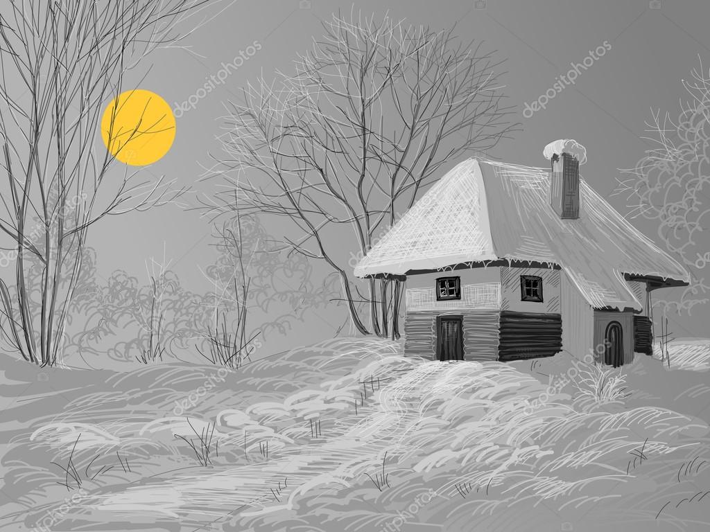 Winter silent night