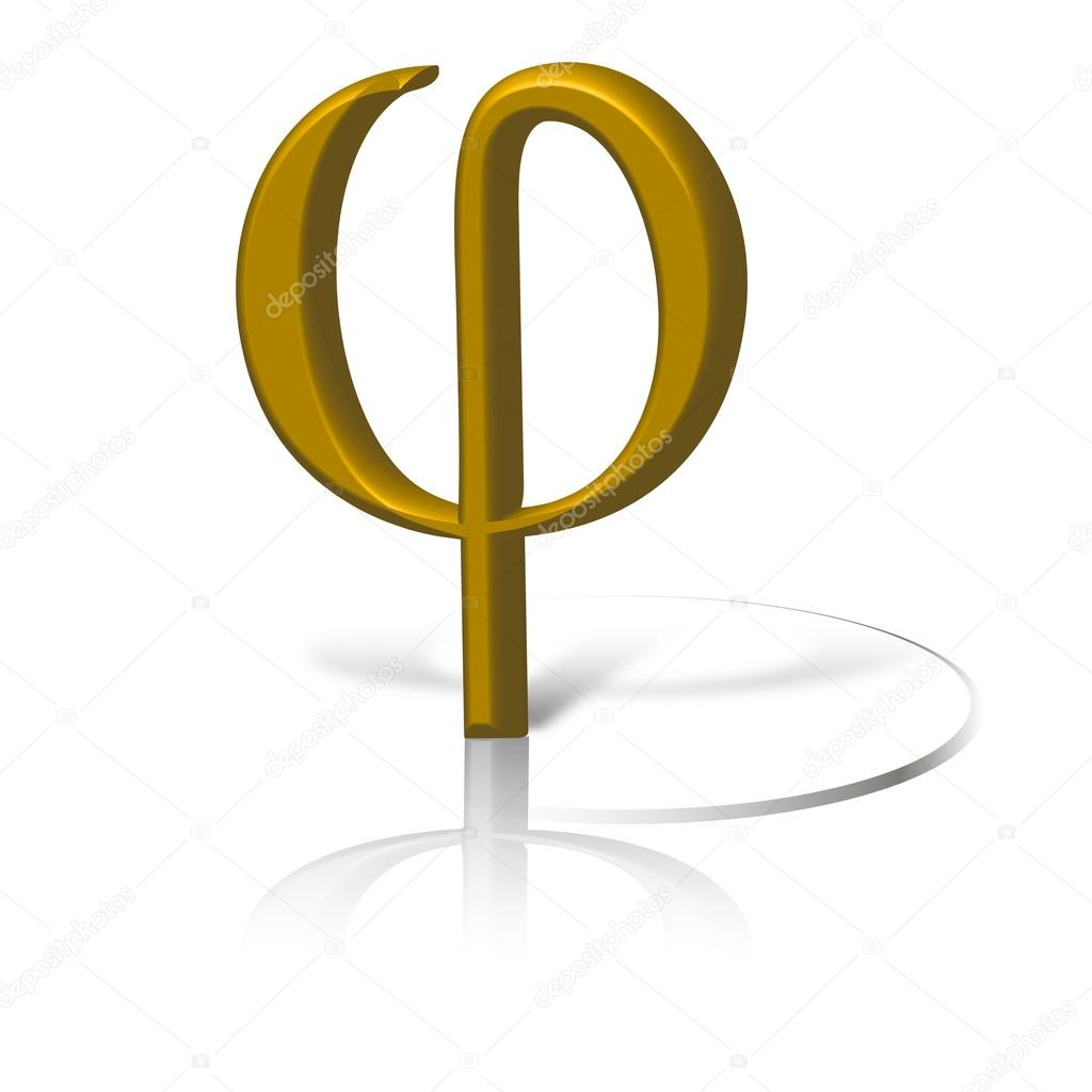 Phi symbol in gold graphic of golden section symbol phi stock phi symbol in gold graphic of golden section symbol phi stock photo buycottarizona Choice Image