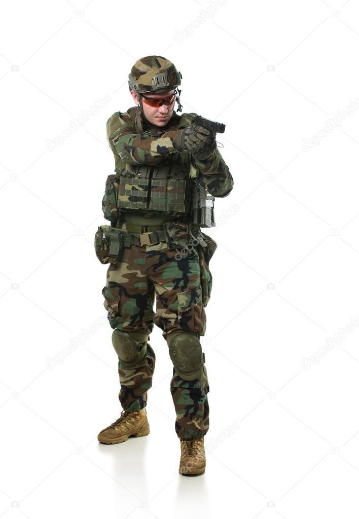 2e63b88a45c2 a NATO katona teljes felszerelés — Stock Fotó © Shell114 #41985405