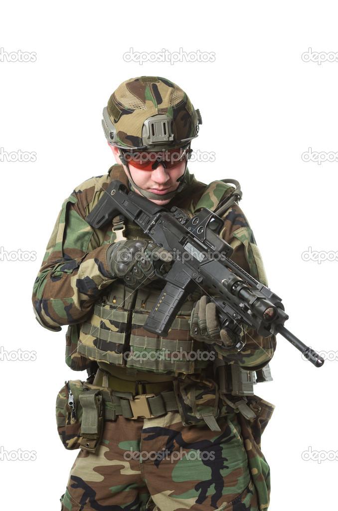 1d6aecaf7535 a NATO katona teljes felszerelés — Stock Fotó © Shell114 #41985507