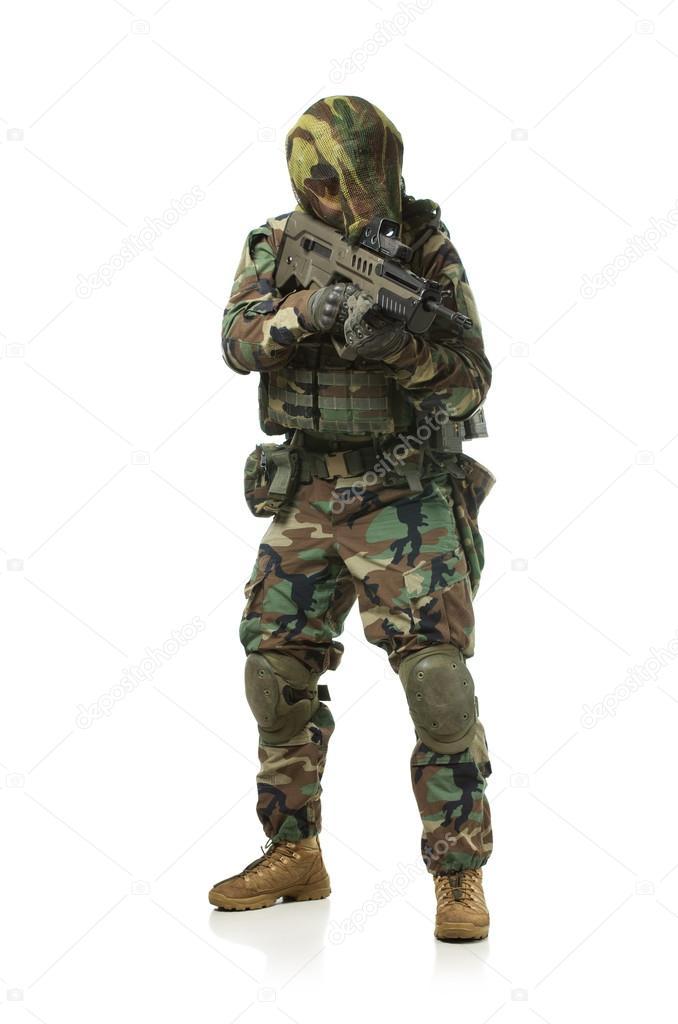 7108789be28a a NATO katona teljes felszerelés — Stock Fotó © Shell114 #42018977