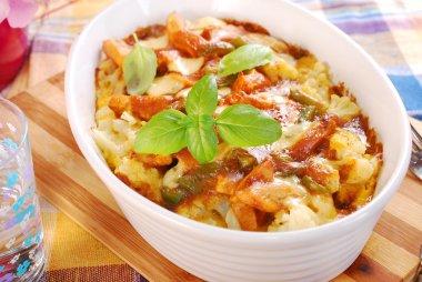 curry chicken casserole with cauliflower and potato
