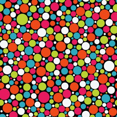Seamless polka dot vector background
