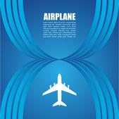Letadlo symbol vektorový design