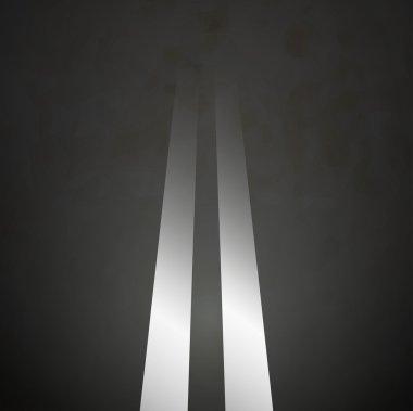 Road background double lines asphalt vector