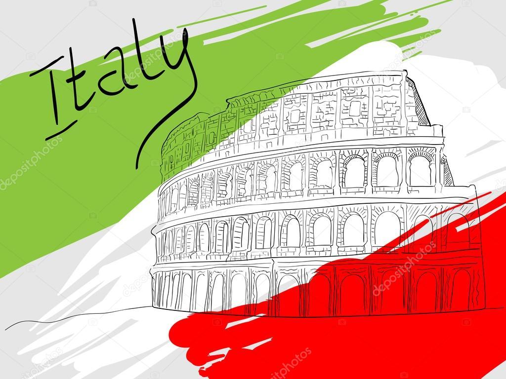 Рисунок италия надпись постоянно