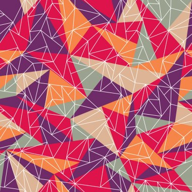 Abstract geometric colorful pattern