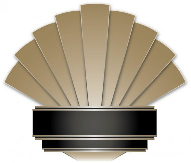 Art Deco Stye Badge