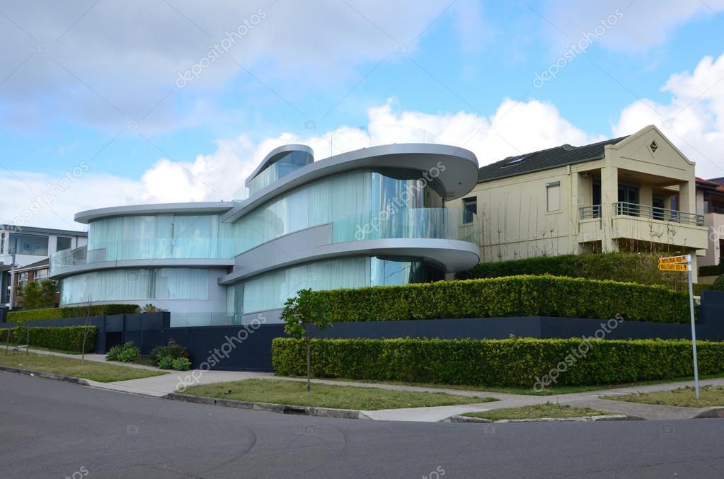 Modernes Haus Aus Glas Auf Der Strasse Von Rose Bay Sydney Stadt La