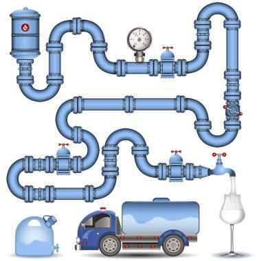 Blue pipeline background