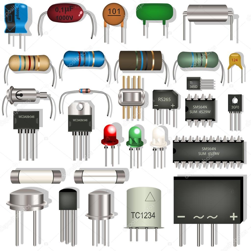 elektronische komponenten — Stockvektor © Stiven #33166643