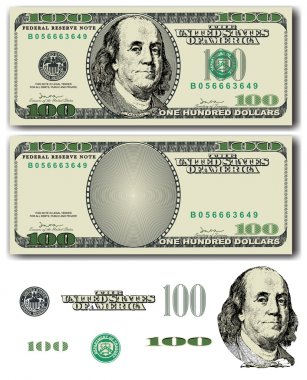 Vector 100 Dollar bill