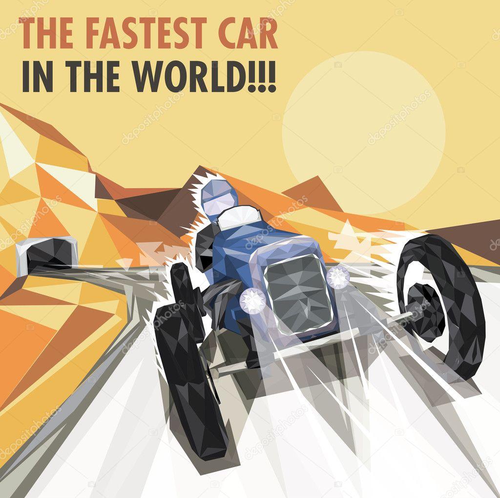 Racing Car Graphic Art Poster: Stock Vector © Cvijun #27324753