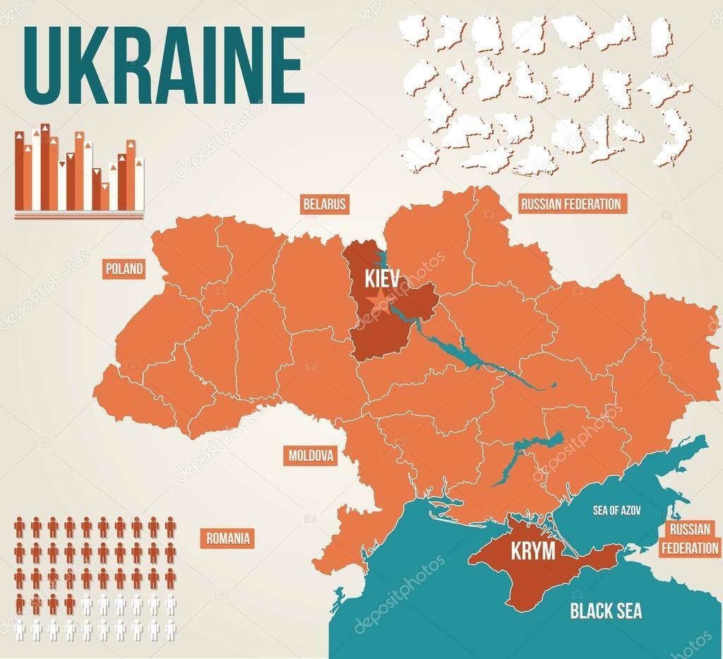 Ukraine Political Map Stock Vector Cvijun - Ukraine political map