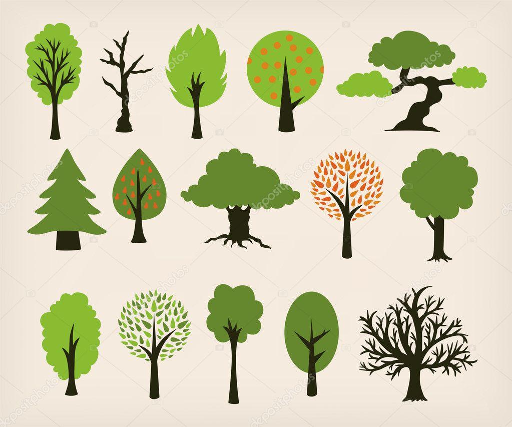 cartoon trees stock vector zsooofija 21824141 rh depositphotos com cartoon trees with branches cartoon trees clip art