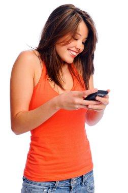 Cute girl texting